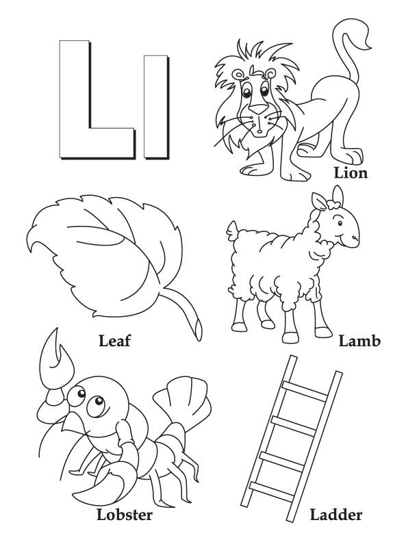 612x792 Letter L Coloring Page Homeschool Worksheets, Pre