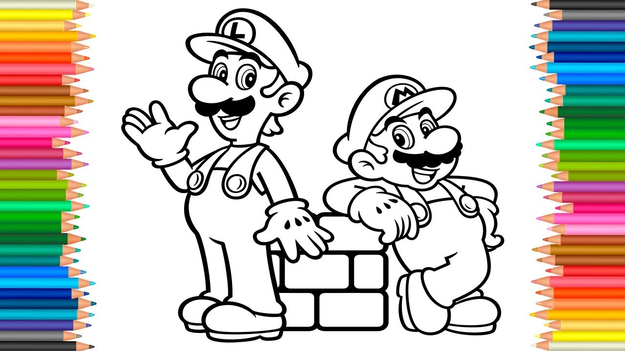 1280x720 Mario Luigi Coloring Book L Coloring Pages Super Mario Videos