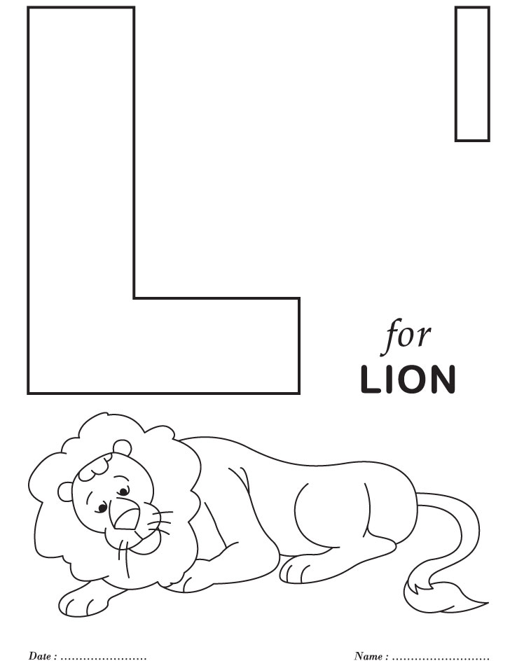 738x954 Printable Coloring Pages Alphabet L