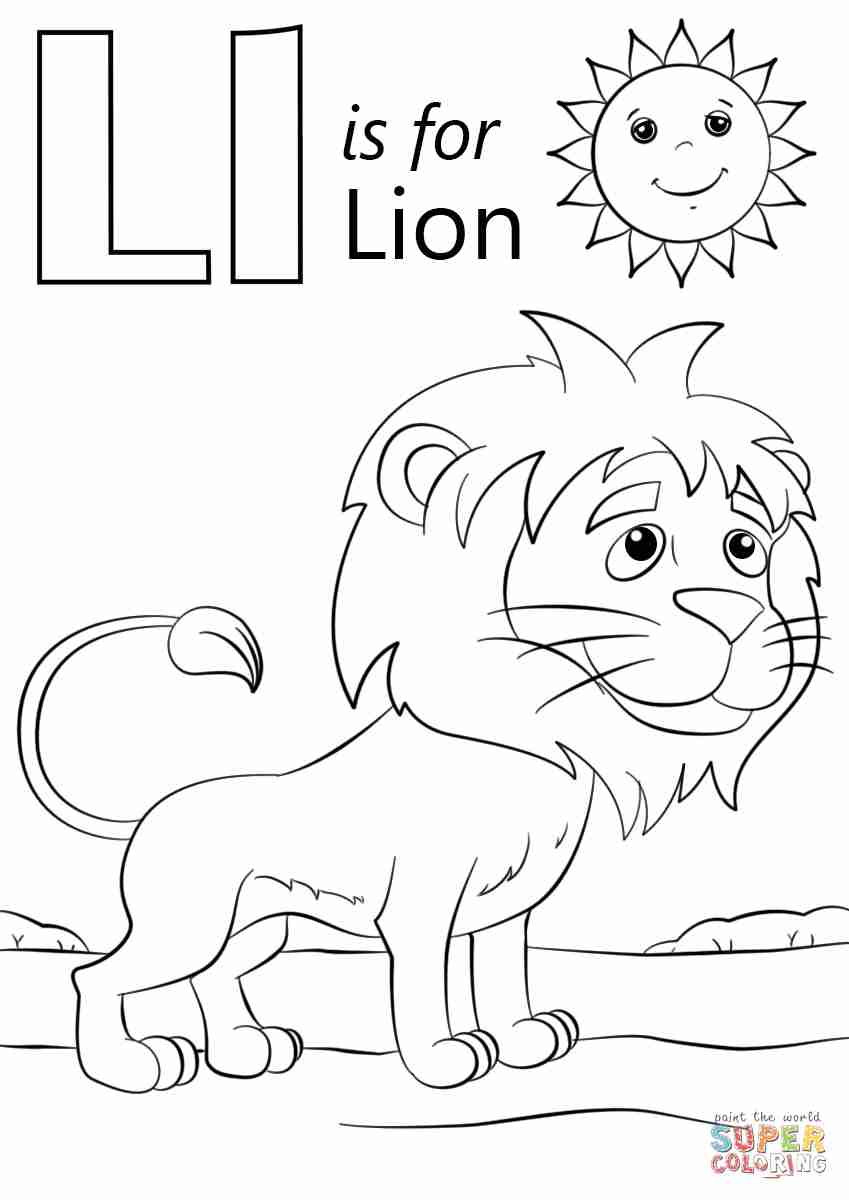 849x1200 The Letter L Coloring Pages Beauteous Page Olegratiy