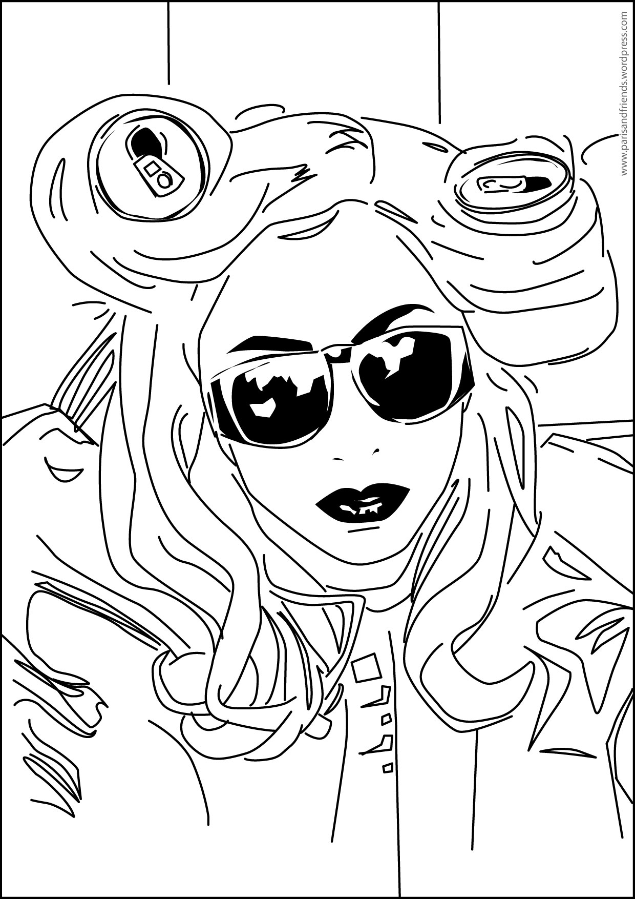 1240x1754 Lady Gaga Coloring Pages Coloring Page For Real Kids Lady Gaga