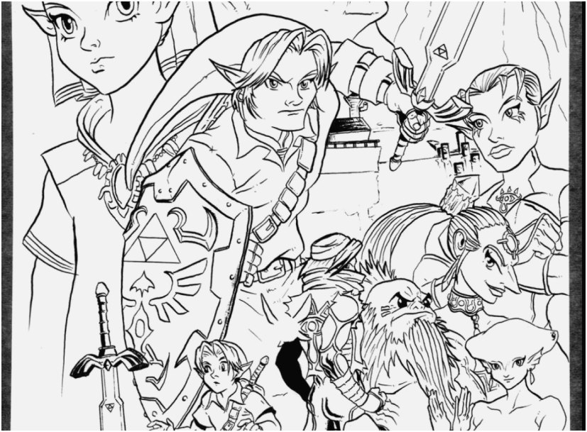 827x609 The Best Shoot Legend Of Zelda Coloring Pages Sweet