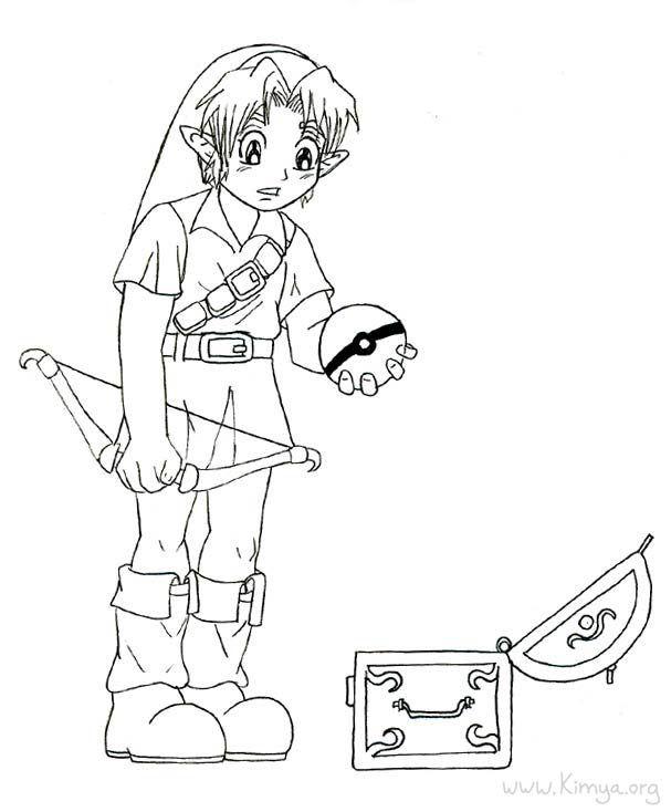 607x734 Zelda Coloring Pages Lineart Zelda Link
