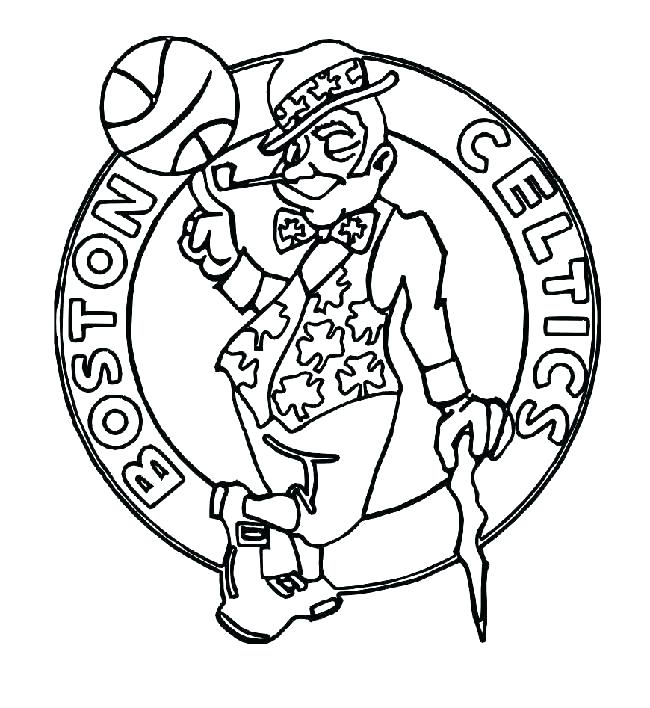 650x708 Nba Basketball Coloring Pages Logos Coloring Pages Basketball