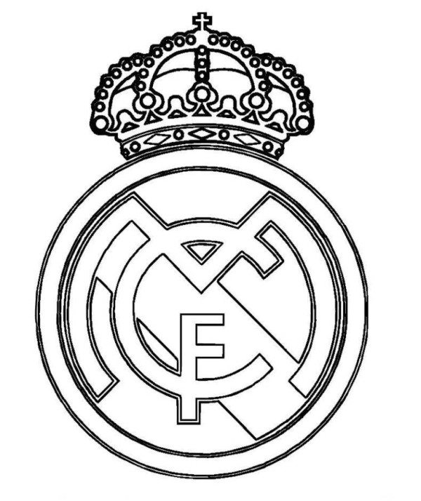 600x713 Real Madrid Logo Soccer Coloring Pages
