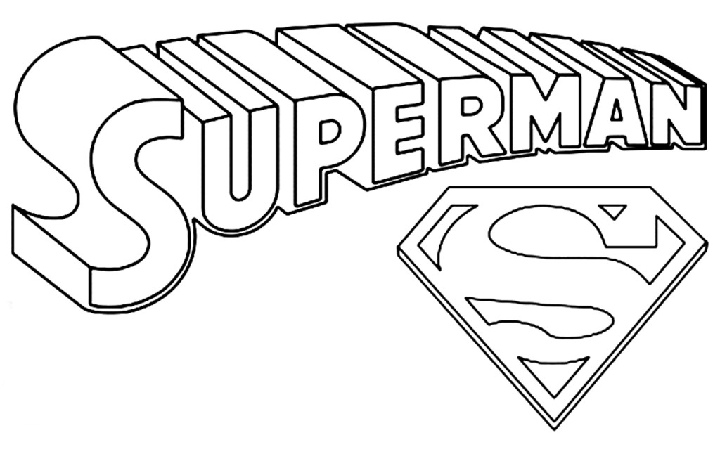 1024x646 Superman Logo Coloring Pages