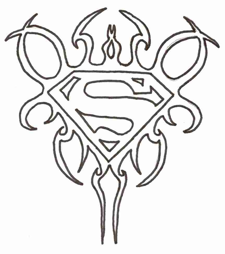 863x976 Charming Ideas Superman Logo Coloring Pages Me Free Printable