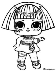 239x300 Pharaoh Babe L O L Surprise Coloring Page Lol Surprise Doll