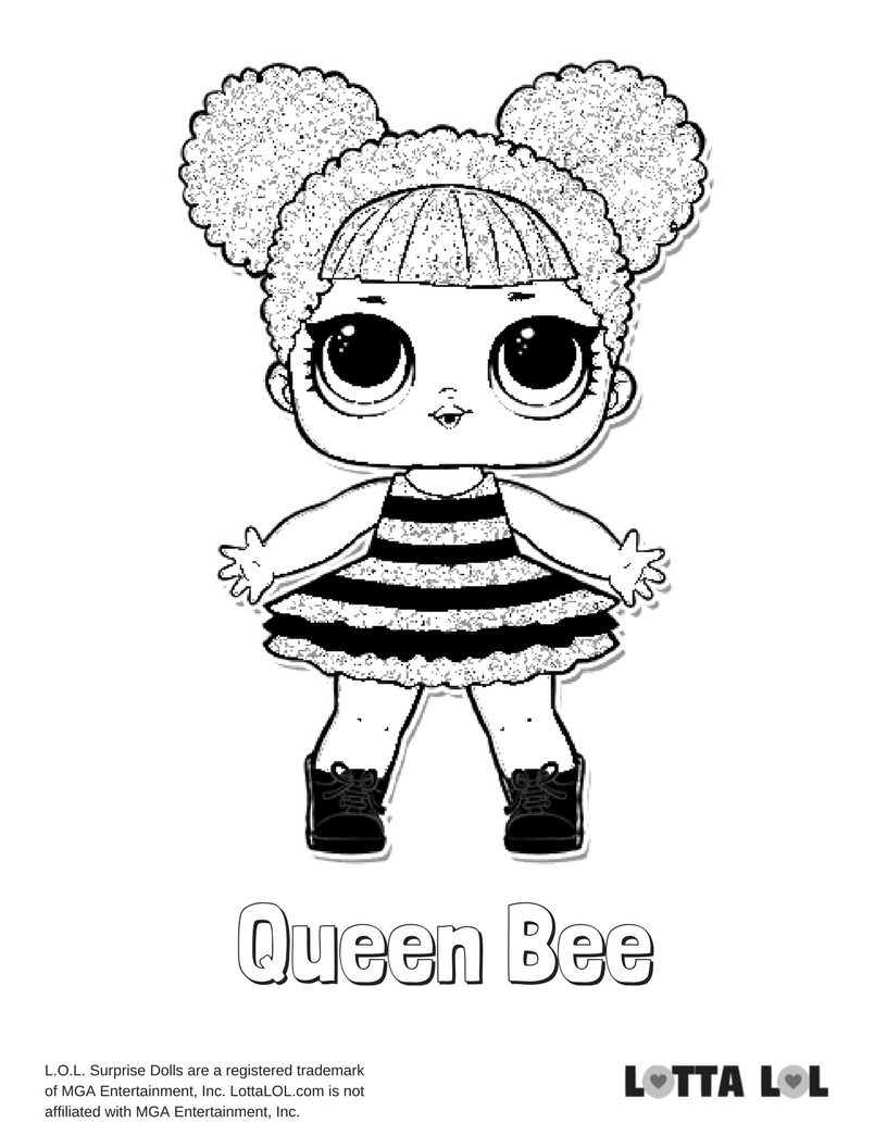 816x1056 Queen Bee Lol Surprise Doll Coloring Page Lotta Lol