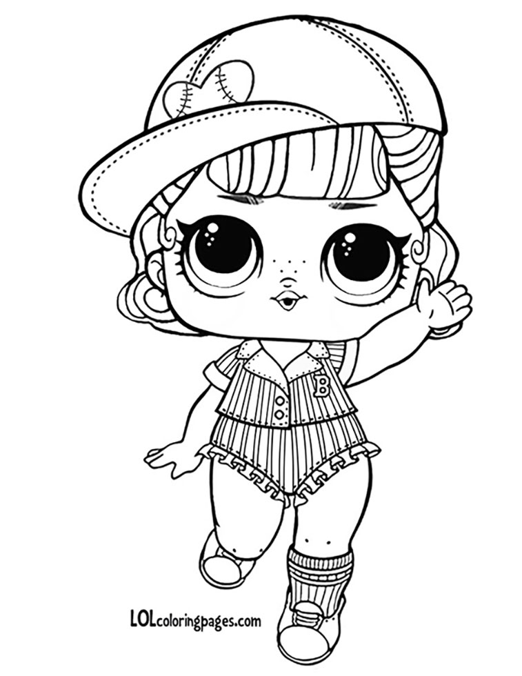 757x980 Short Stop Lol Doll Coloring Page Lol Surprise Doll Coloring Pages