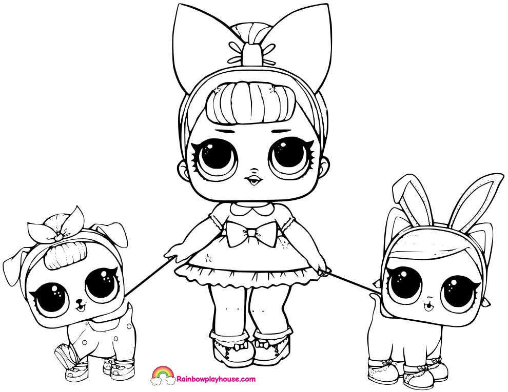 Coloring Pages Lol Dolls at GetDrawings | Free download