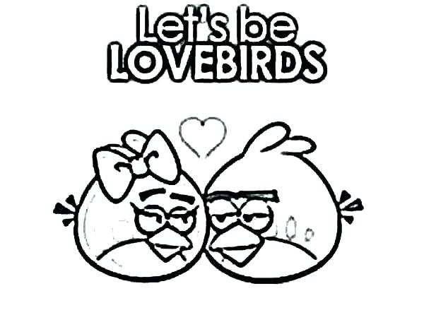600x446 Love Birds Coloring Pages For Angry Bird Page Falling In Pag
