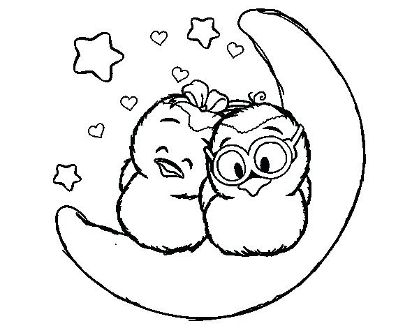 600x470 Love Birds Coloring Pages Love Birds Perching On Love Tree