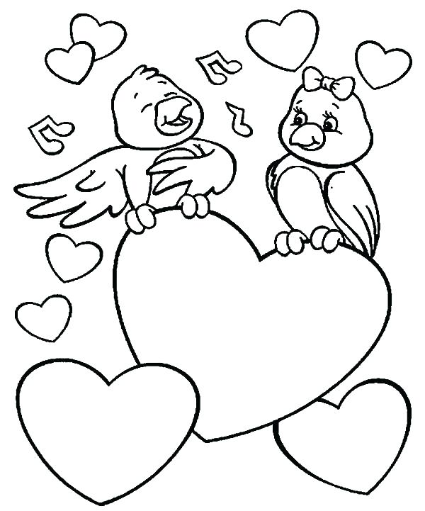 600x721 Coloring Pages Love Love Bird Coloring Pages Love Birds Singing