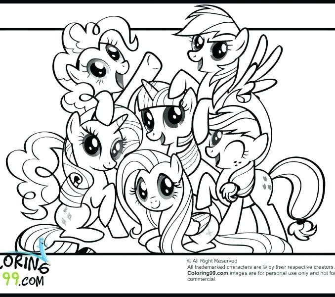 678x600 Little Pony Friendship Is Magic Coloring Pages Or Printable