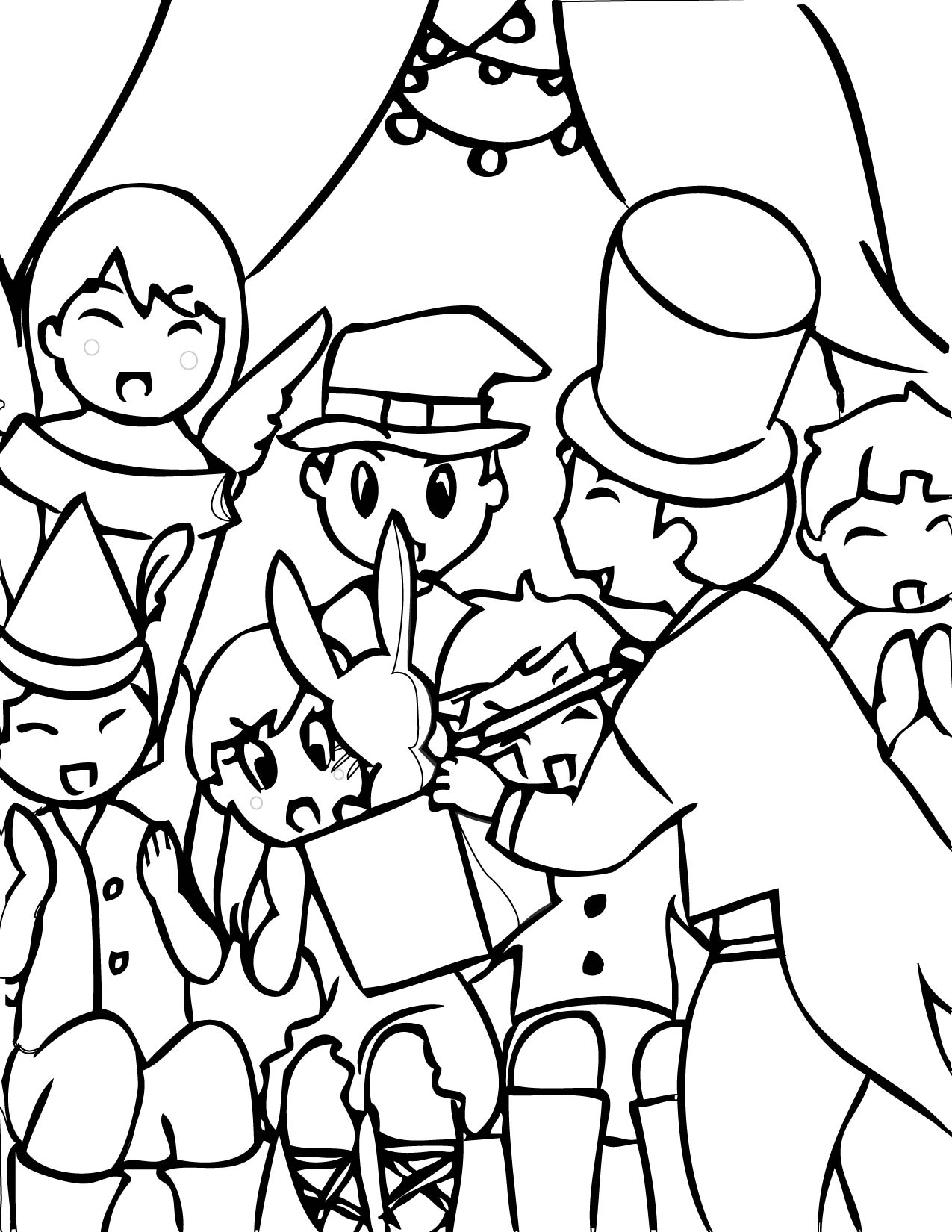 1275x1650 Magic Coloring Page