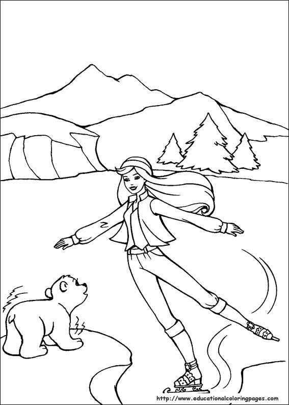 567x794 Barbie Magic Pegasus Coloring Pages