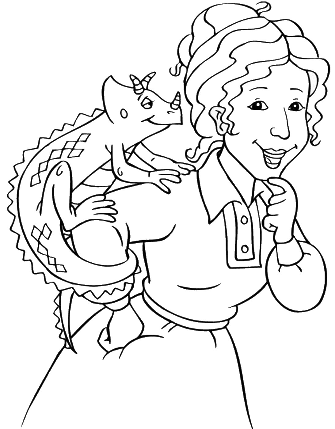 1093x1400 The Magic School Bus Coloring Pages