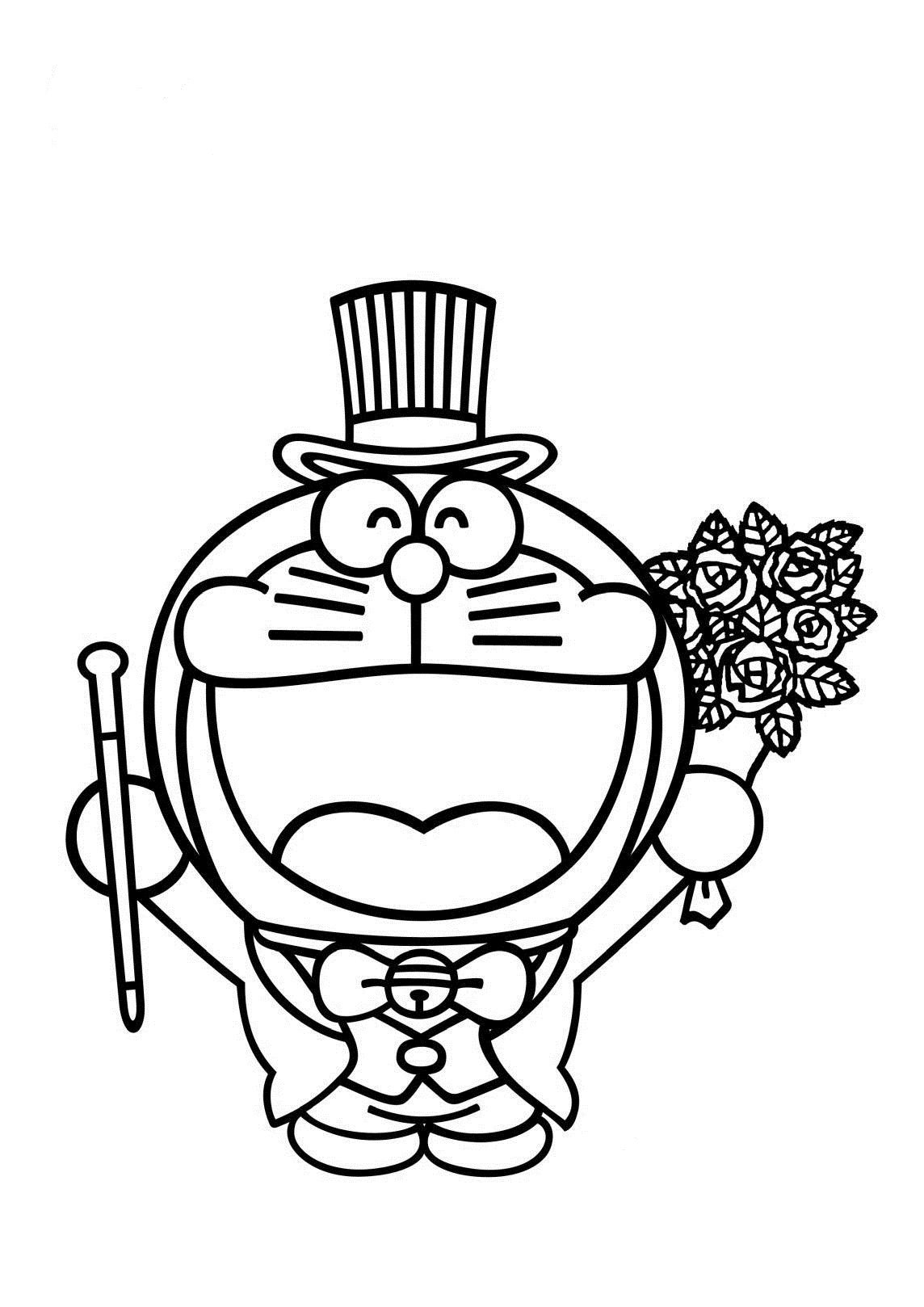 1144x1618 Magician Doraemon Coloring Page Boys Pages Of Kidscoloringpage