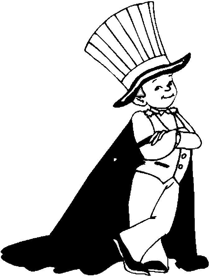 675x897 Costume Magician Coloring Page