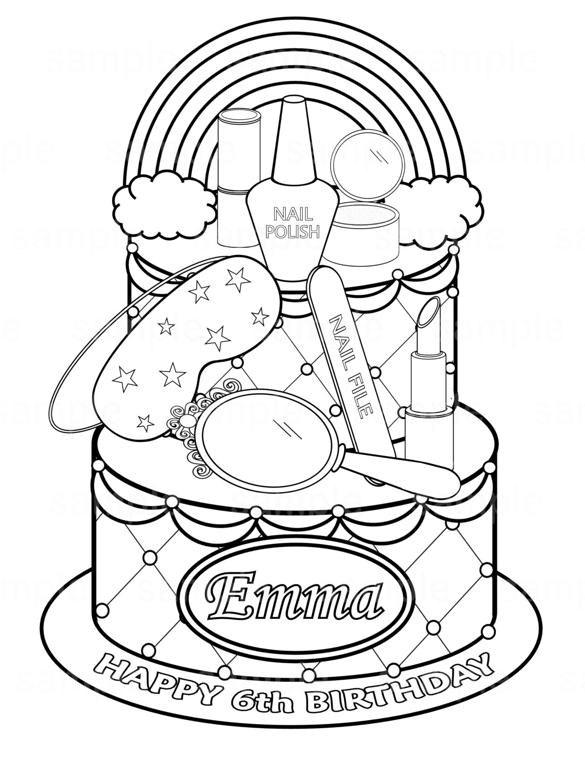 1159x1500 Easily Cosmetic Coloring Pages Young Girl Putt