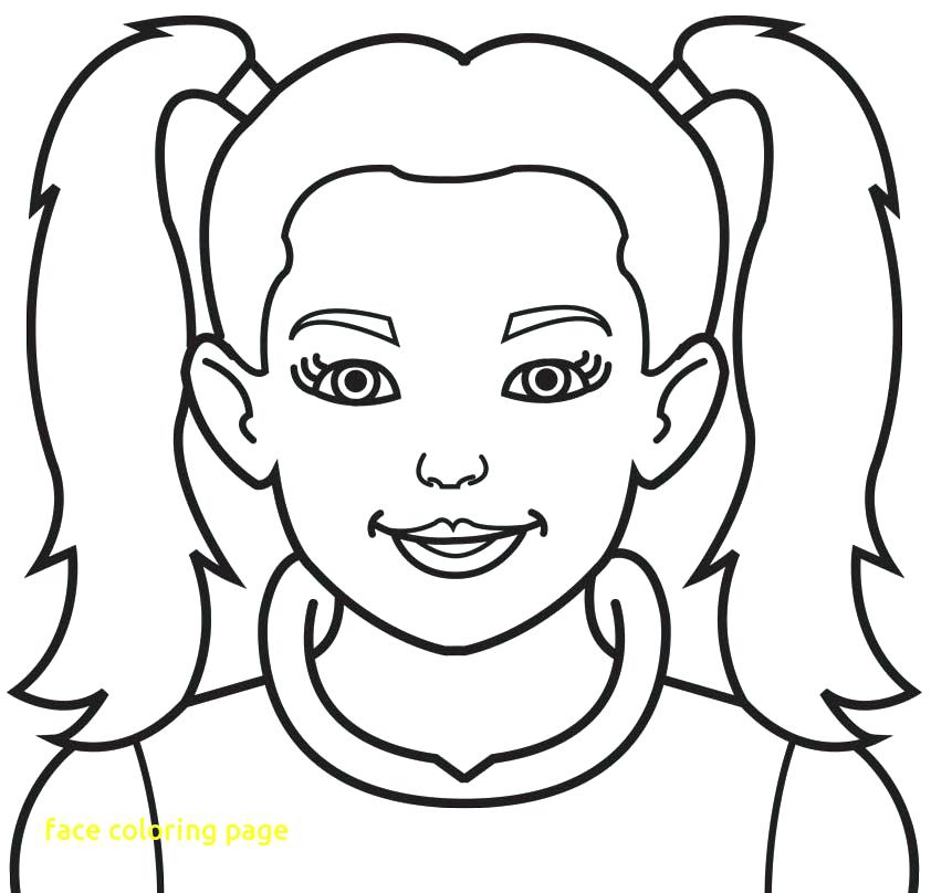 842x808 Face Coloring Page Face Coloring Page With Coloring Pages For Face