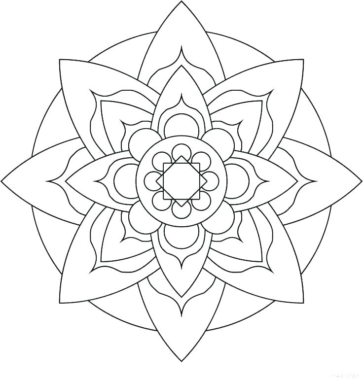 736x771 Easy Mandala Coloring Pages Easy Mandala Coloring Pages Mandala