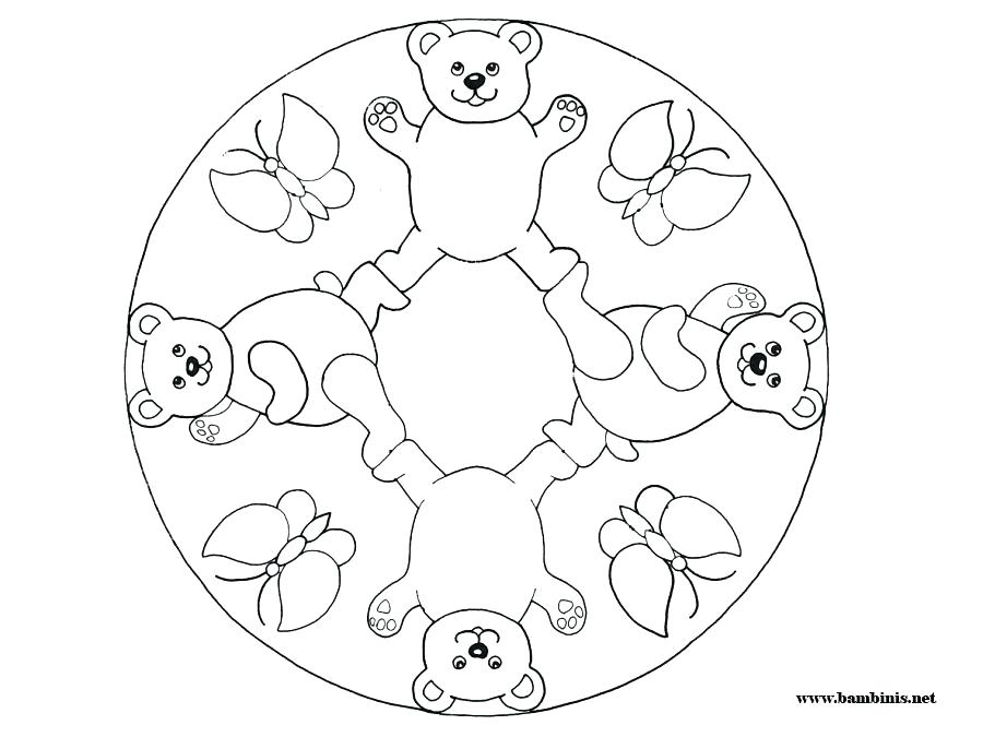Coloring Pages Mandala Simple at GetDrawings.com | Free for ...