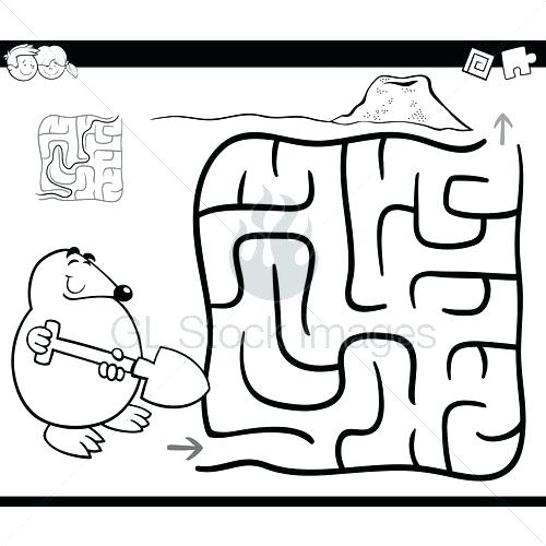 500x500 Magical Morning Maze Coloring Page Maze Coloring Page Coloring