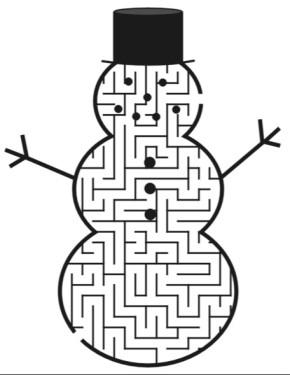 290x375 Snowman Maze Coloring Book