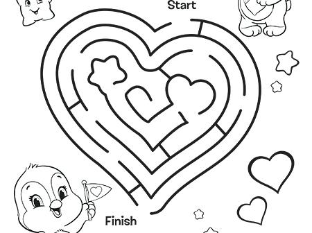 450x336 Maze Coloring Page