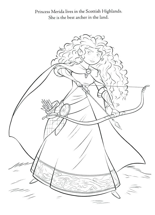 Coloring Pages Merida