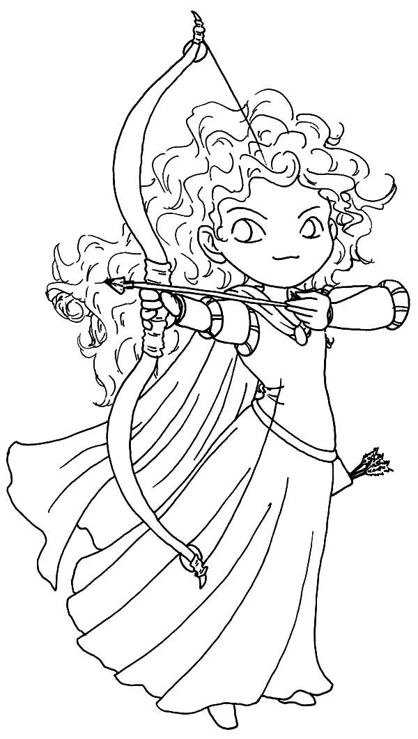 600x1060 Chibi Brave Princess Merida Coloring Pages Color Luna
