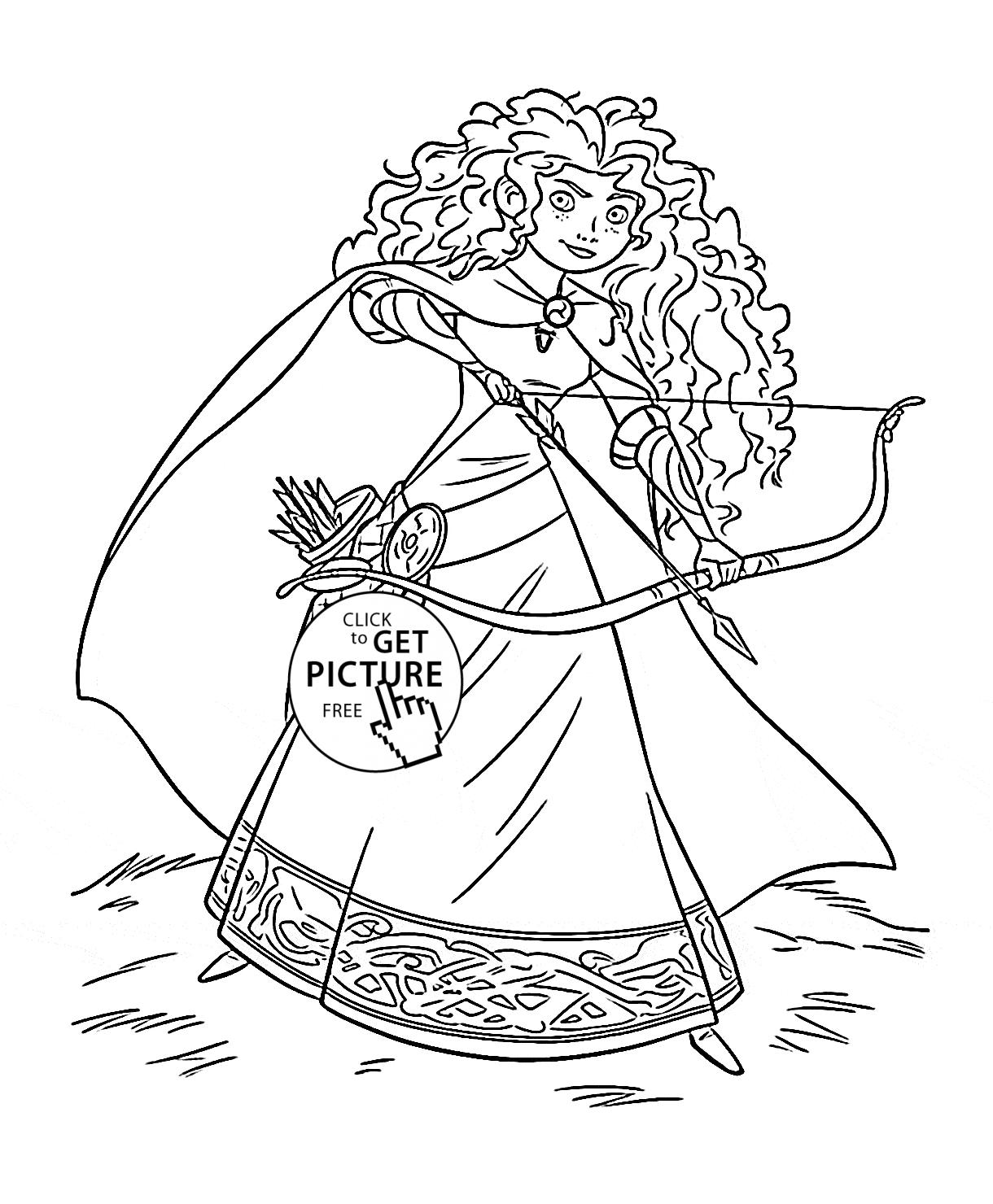 1220x1480 Disney Princess Coloring Pages Merida Free Free Coloring Sheets