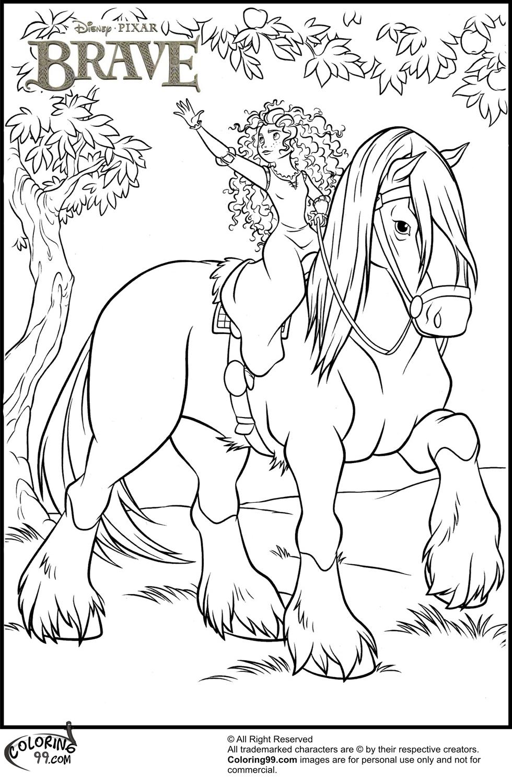 980x1500 Disney Princess Merida Coloring Pages Team Colors