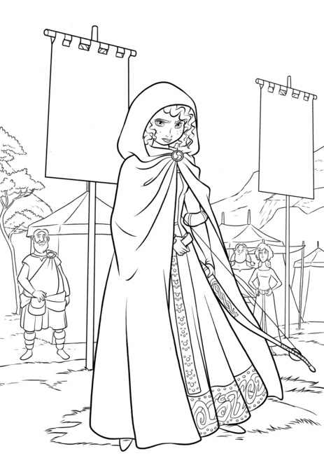 463x654 Brave Merida Coloring Pages Disney Coloring Pages