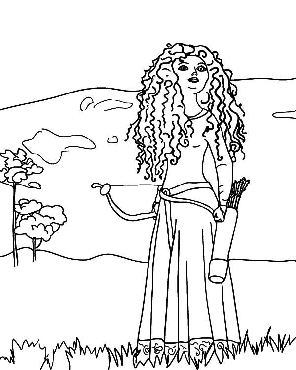 600x748 Drawing Princess Merida Coloring Pages Color Luna
