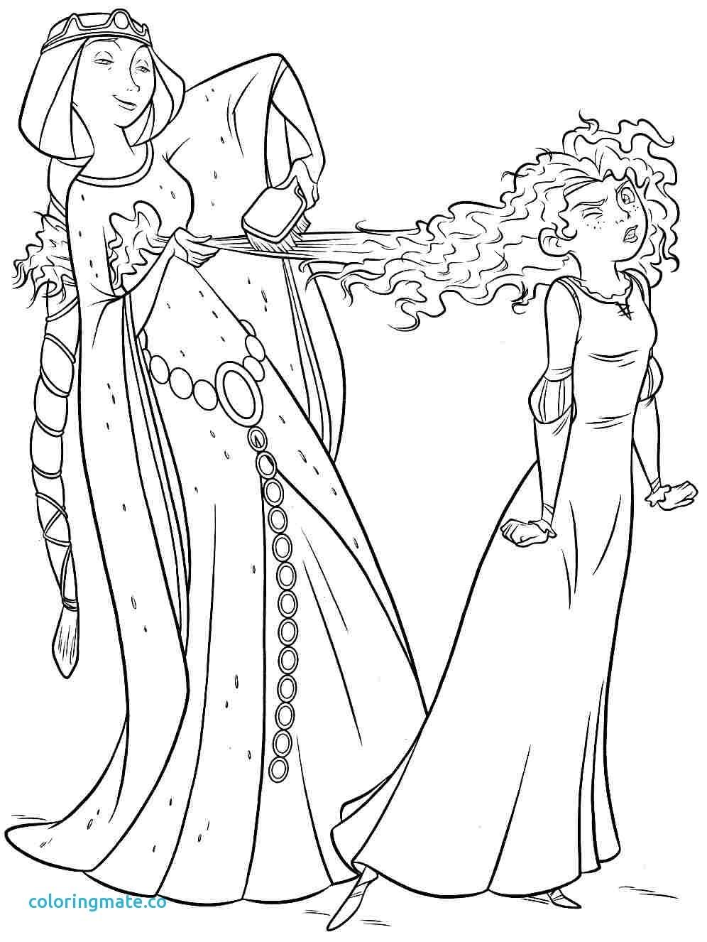 996x1326 Fresh Coloring Pages Of Disney Princess Merida Design Printable
