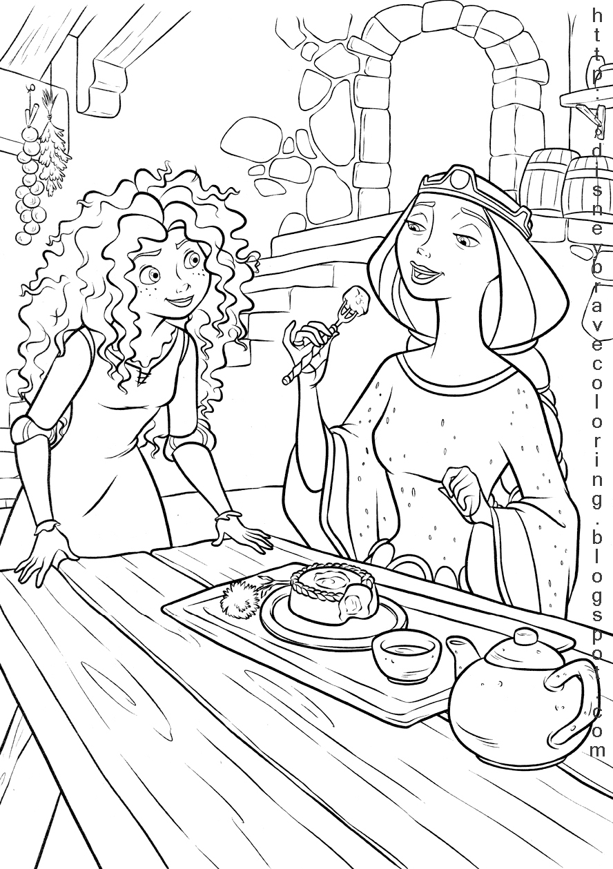 888x1259 Princess Merida Brave Coloring Pages Coloring Pages For Kids