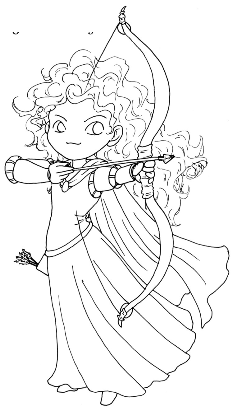 750x1321 Posing Of Princess Merida Brave Coloring Pages Meridadisney