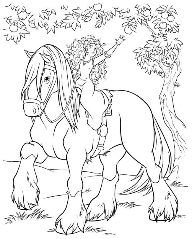 650x806 Brave Coloring Pages Princess Merida Coloring Pages For Kids
