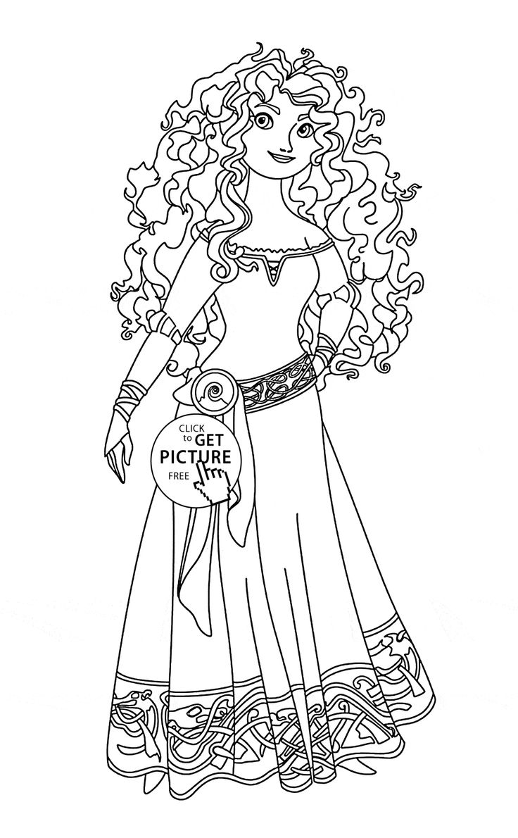 736x1190 Princess Merida Coloring Pages Download