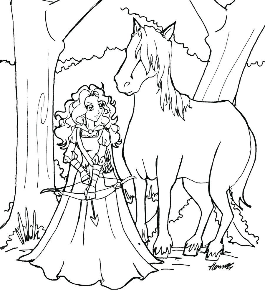 900x992 Brave Merida Coloring Pages