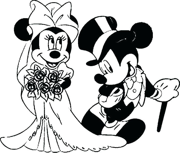 736x625 Minnie And Mickey Coloring Pages And Mickey Together Mickey Mouse
