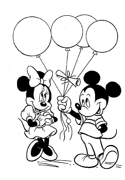 535x766 Balloons Coloring Pages Mickey Mouse With Balloons Coloring Pages