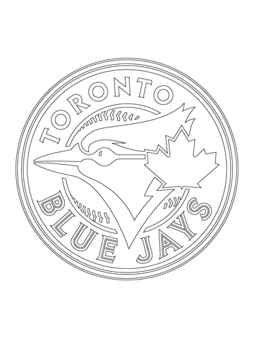 360x480 Toronto Blue Jays Logo Coloring Page From Mlb Category Select