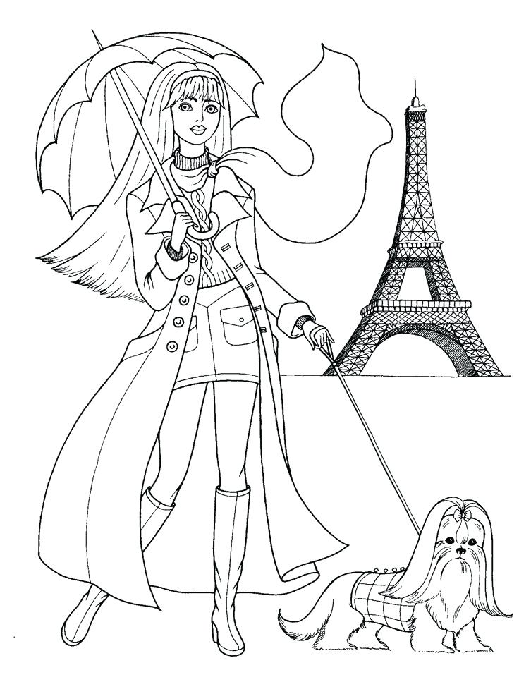 736x984 Coloring Pages Fashion Fashion Coloring Pages Barbie Coloring