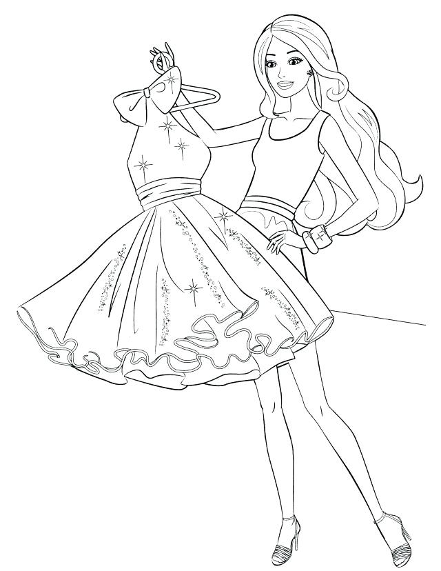 640x828 Coloring Pages Fashion Model Coloring Pages Fashion Barbie Fashion