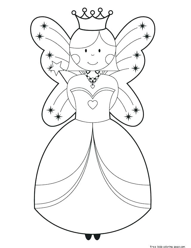640x828 Fairy Coloring Pages For Kids Fairy Princess Coloring Pages Barbie