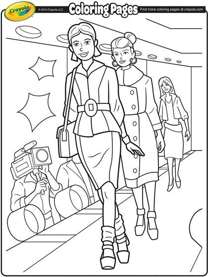 420x560 Runway Model Coloring Page Coloring Pages